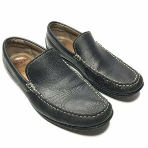 Ecco Leather Casual Slip On Moc Penny Loafers